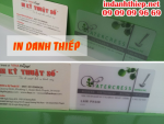In danh thiếp trong suốt, in name card nhựa trong suốt giá rẻ tại TPHCM